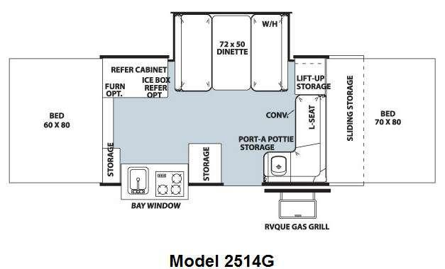 Floorplan - 2011 Forest River RV Rockwood Premier 2514G
