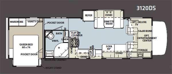 Floorplan - 2011 Forest River RV Sunseeker 3120DS