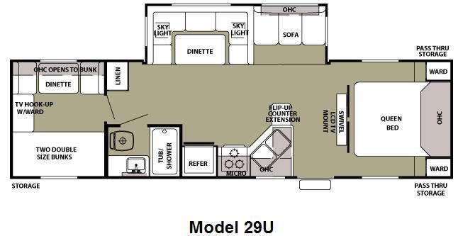 Floorplan - 2011 Forest River RV Cherokee 29U