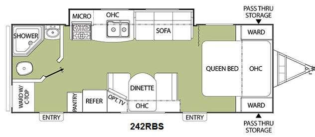 Floorplan - 2011 Coachmen RV Freedom Express 242RBS