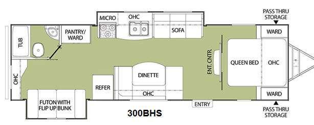 Floorplan - 2011 Coachmen RV Freedom Express 300BHS