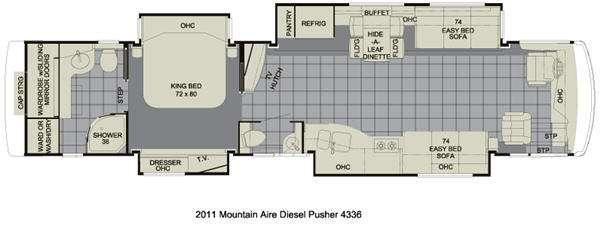 Floorplan - 2011 Newmar Mountain Aire 4336