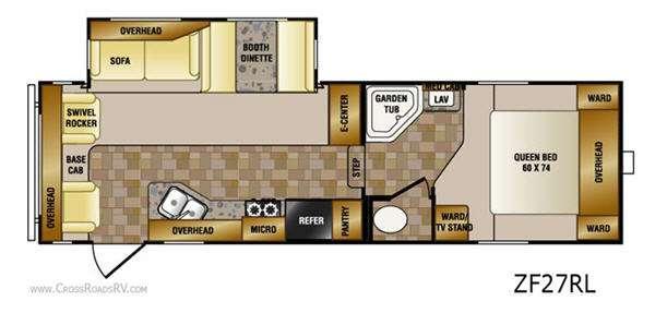 Floorplan - 2011 CrossRoads RV Zinger ZF27RL