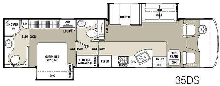 Floorplan - 2011 Coachmen RV Mirada 35DS