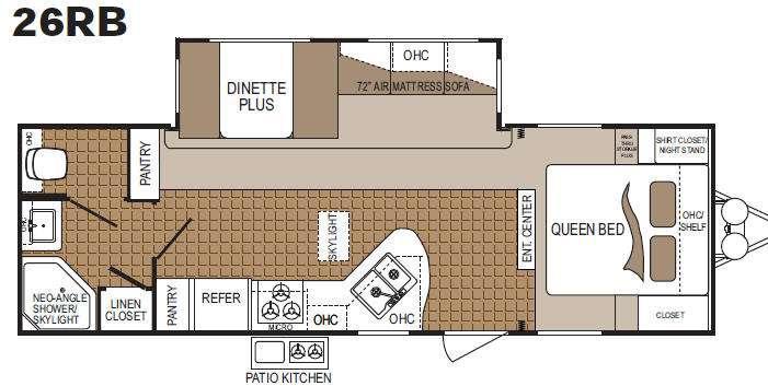 Floorplan - 2011 Dutchmen RV Colorado 260RB
