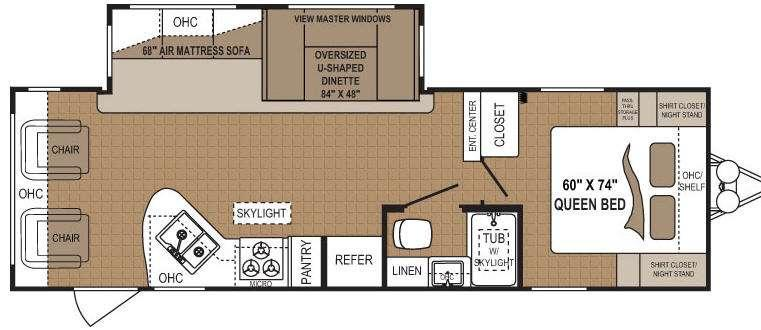 Floorplan - 2011 Dutchmen RV Four Winds 273RLS
