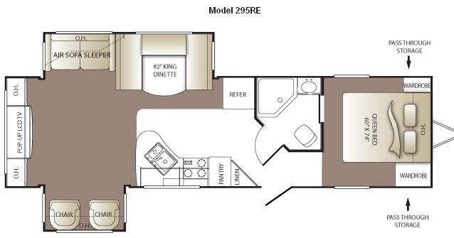 Floorplan - 2011 Keystone RV Outback 295RE