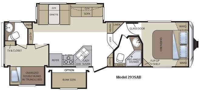Floorplan - 2011 Keystone RV Cougar 293SAB