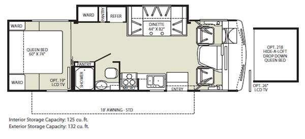 Floorplan - 2011 Fleetwood RV Storm 28MS
