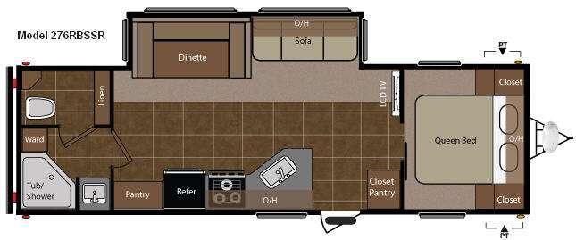 Floorplan - 2011 Keystone RV Springdale 276RBSSR