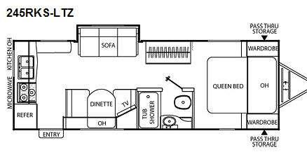 Floorplan - 2011 Coachmen RV Freedom Express LTZ 245RKS