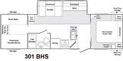 Floorplan - 2006 Keystone RV Cougar 301BHS