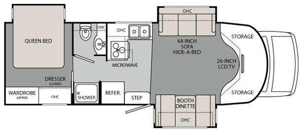 Floorplan - 2011 Holiday Rambler Augusta B Plus 29 PBT