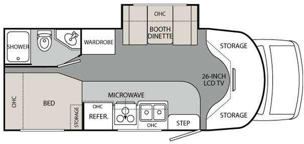 Floorplan - 2011 Holiday Rambler Augusta B Plus 25 PCS