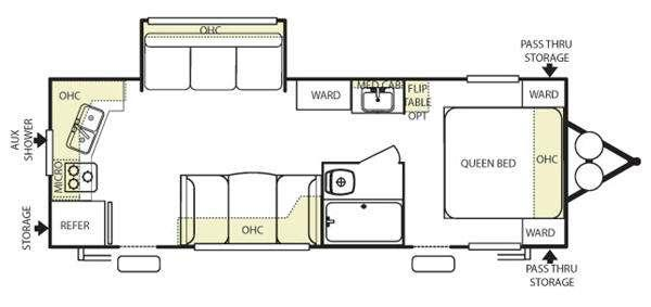 Floorplan - 2011 Forest River RV Wildwood 25RKS