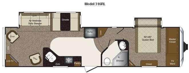 Floorplan - 2011 Keystone RV Laredo 316RL