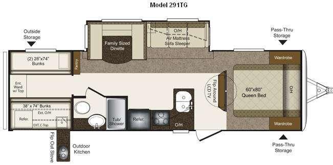 Floorplan - 2011 Keystone RV Laredo Super Lite 291TG
