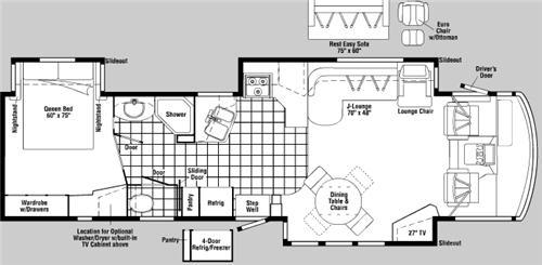 Floorplan - 2006 Winnebago Adventurer 38J