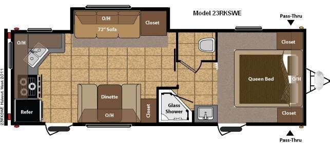 Floorplan - 2011 Keystone RV Hideout 23RKSWE
