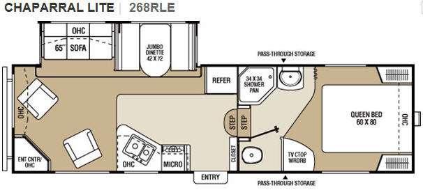 Floorplan - 2011 Coachmen RV Chaparral Lite 268RLE