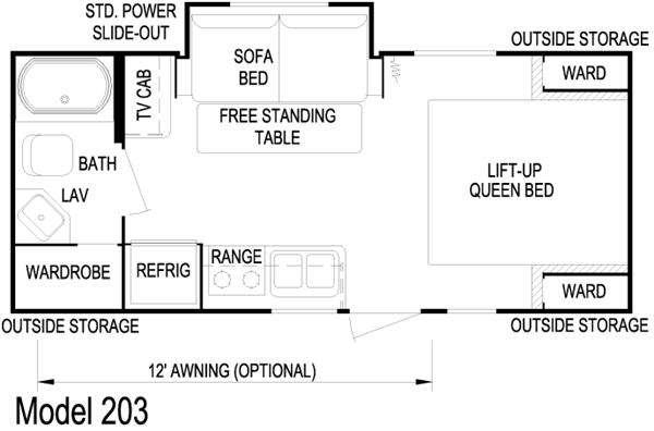 Floorplan - 2010 Skyline Nomad Joey 203