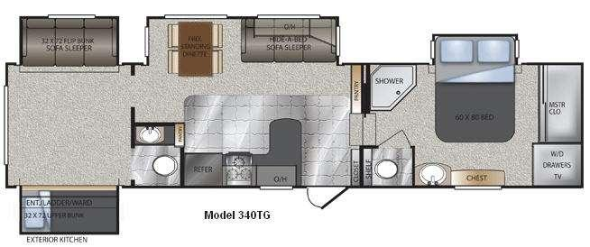 Floorplan - 2011 Keystone RV Avalanche 340TG