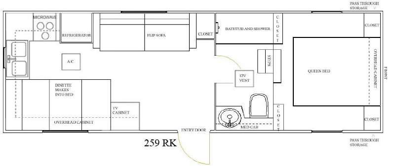 Floorplan - 2010 Outpost Lite 259 RK Fifth Wheel