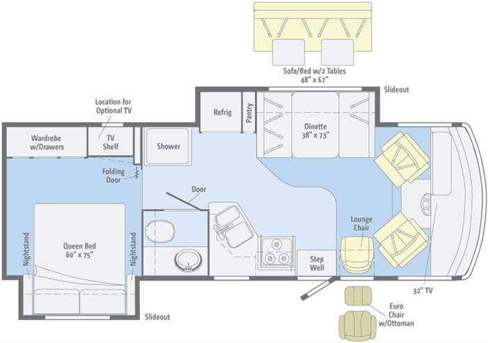 Floorplan - 2011 Winnebago Vista 26P