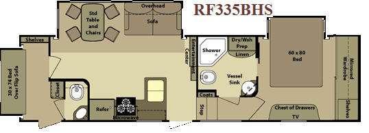 Floorplan - 2011 Open Range RV Roamer RF335BHS