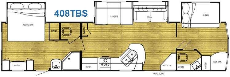 Floorplan - 2011 Gulf Stream RV Innsbruck 408TBS