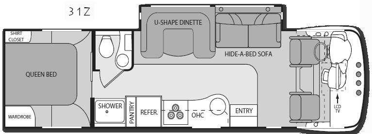Floorplan - 2011 Four Winds RV Serrano 31Z