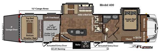 Floorplan - 2011 Keystone RV Fuzion 400