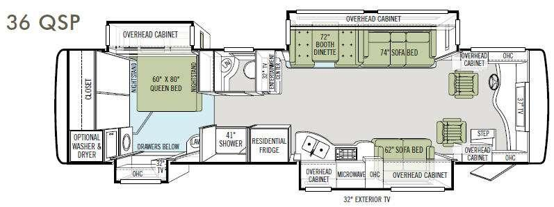 Floorplan - 2011 Tiffin Motorhomes Allegro Bus 36 QSP
