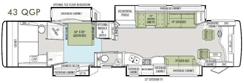 Floorplan - 2011 Tiffin Motorhomes Allegro Bus 43 QGP