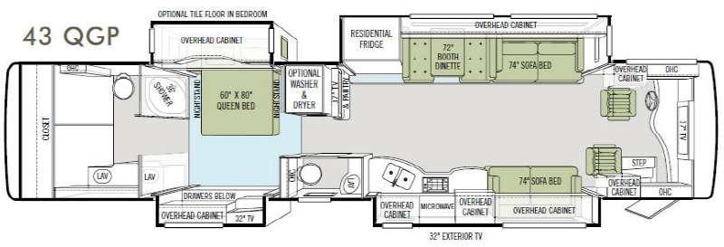 Floorplan - 2011 Tiffin Motorhomes Allegro Bus 43 QGP