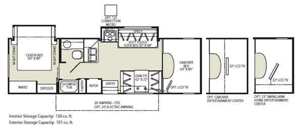 Floorplan - 2011 Fleetwood RV Tioga 30U