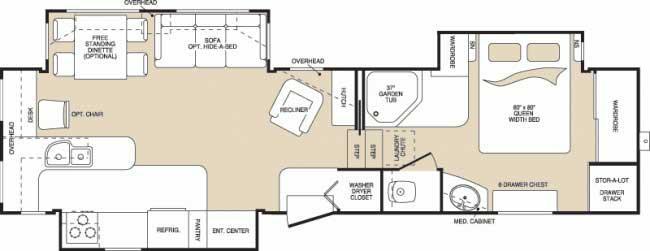 Floorplan - 2006 Keystone RV Montana 3295RK