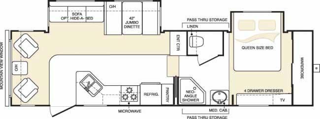 Floorplan - 2006 Keystone RV Mountaineer 298RLS