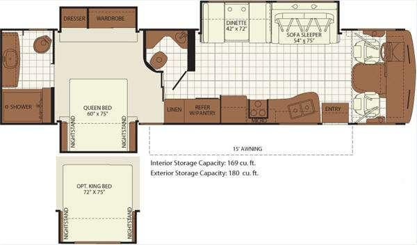 Floorplan - 2011 Fleetwood RV Bounder Classic 36R