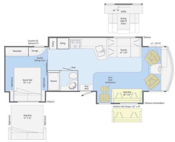 Floorplan - 2011 Winnebago Sightseer 33C