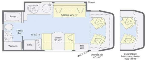 Floorplan - 2011 Winnebago View 24K