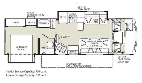 Floorplan - 2011 Fleetwood RV Terra 31TS