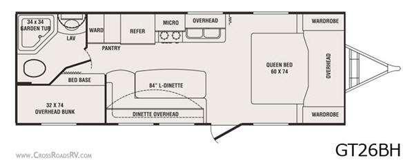 Floorplan - 2011 CrossRoads RV Slingshot GT26BH