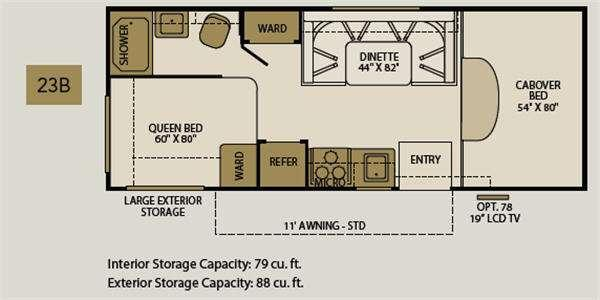 Floorplan - 2011 Fleetwood RV Tioga Montara 23B