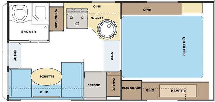 Floorplan - 2011 Lance 855