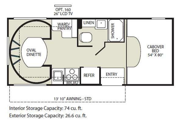 Floorplan - 2011 Fleetwood RV Jamboree Searcher 22C