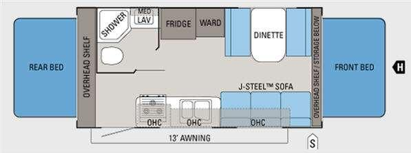 Floorplan - 2011 Jayco Jay Feather Select X19H