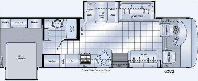 Floorplan - 2011 Damon Challenger 32VS
