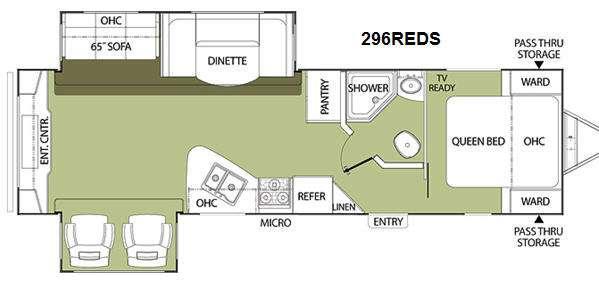 Floorplan - 2011 Coachmen RV Freedom Express 296REDS