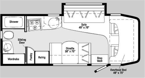 Floorplan - 2006 Winnebago View 23H